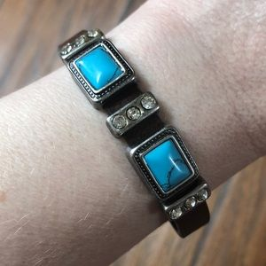 Jewelry - Brown Leather & Turquoise Bracelet
